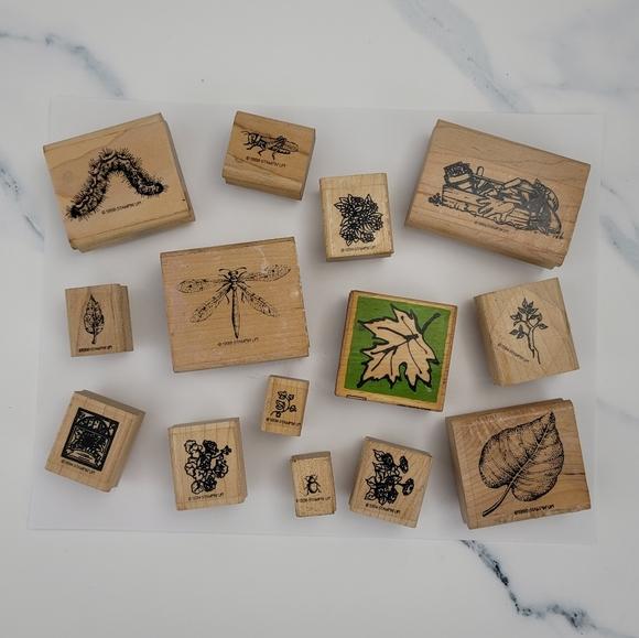 (14) 1990's Outdoor Garden Theme Rubber Stamps